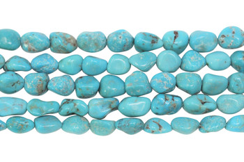 Chinese Turquoise Polished 8-10mm Nugget