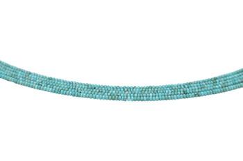 Elisa Turquoise Polished 3mm Rondel