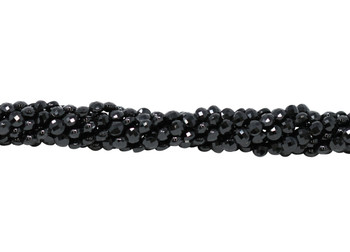 Black Spinel Polished 4mm Faceted Coin