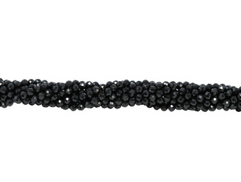 Black Spinel Polished 3mm Faceted Round