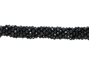 Black Spinel Polished 4mm Faceted Round