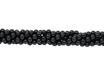 Black Spinel Polished 6mm Round