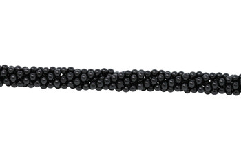 Black Spinel Polished 6mm Faceted Round