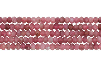 Pink Tourmaline Polished 2.5x4mm Faceted Rondel