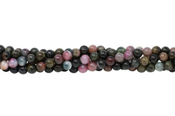 Tourmaline Multi Color Polished 6mm Round