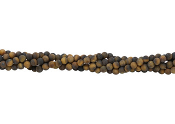 Tiger Eye Matte 4mm Round