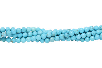 Howlite Turquoise Polished 4mm Round