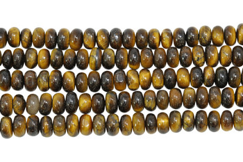 Tiger Eye Polished 4x6mm Rondel