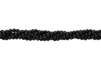 Black Tourmaline Grade A Polished 4mm Round
