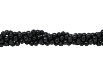 Black Tourmaline Grade A Polished 6mm Round