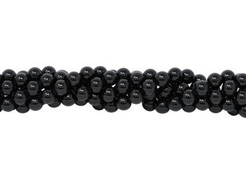 Black Tourmaline Grade A Polished 8mm Round