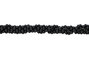 Black Tourmaline Grade A Polished 8mm Round