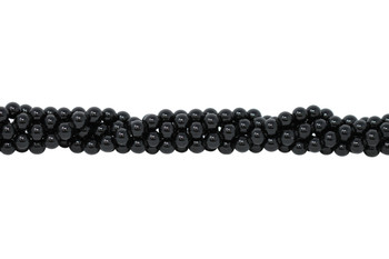 Black Tourmaline Grade A Polished 10mm Round