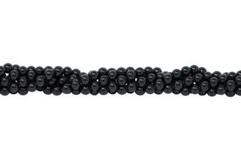 Black Tourmaline Grade A Polished 10mm Round