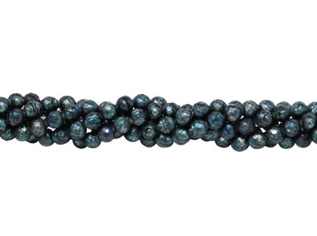 Freshwater Peacock Pearls 6mm Faceted Semi Round