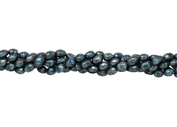 Freshwater Peacock Pearls 6x8mm Faceted Rice