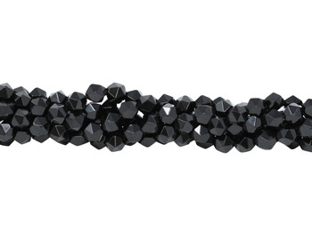 Black Onyx Polished 8mm Star Cut