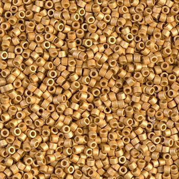 Delicas Size 11 Miyuki Seed Beads -- 1832F Duracoat Galvanized Gold Matte
