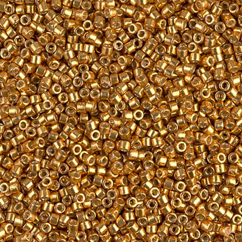 Delicas Size 11 Miyuki Seed Beads -- 1833 Duracoat Galvanized Yellow Gold