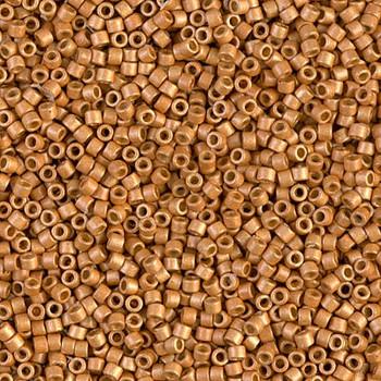 Delicas Size 11 Miyuki Seed Beads -- 1833F Duracoat Galvanized Yellow Gold Matte