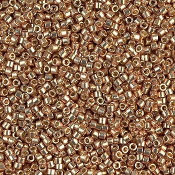 Delicas Size 11 Miyuki Seed Beads -- 1834 Duracoat Galvanized Champagne