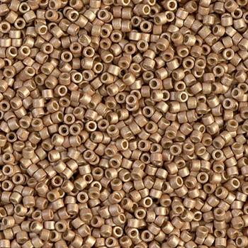 Delicas Size 11 Miyuki Seed Beads -- 1834F Duracoat Galvanized Champagne Matte
