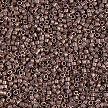 Delicas Size 11 Miyuki Seed Beads -- 1843F Duracoat Galvanized Dark Mauve Matte