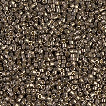 Delicas Size 11 Miyuki Seed Beads -- 1852 Duracoat Galvanized Pewter