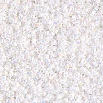 Delicas Size 11 Miyuki Seed Beads -- 202 White Pearl AB