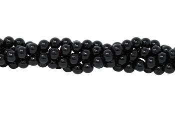 Black Onyx Grade A Polished 8mm Round