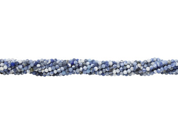 Sodalite Polished 2mm Faceted Round