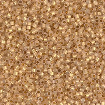 Delicas Size 11 Miyuki Seed Beads -- 230 Cream Opal / 24KTGoldLined