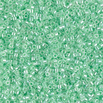 Delicas Size 11 Miyuki Seed Beads -- 237 Crystal Luster / Light Green Lined