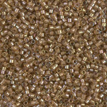 Delicas Size 11 Miyuki Seed Beads -- 288 Saffron AB / White Lined
