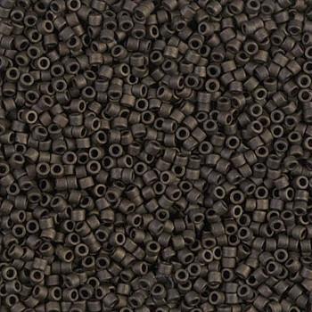 Delicas Size 11 Miyuki Seed Beads -- 311 Metallic Olive Matte
