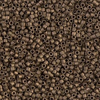 Delicas Size 11 Miyuki Seed Beads -- 322 Metallic Gold Matte