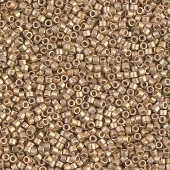 Delicas Size 11 Miyuki Seed Beads -- 334 Matte Metallic Dark Yellow Gold 24K