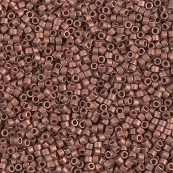 Delicas Size 11 Miyuki Seed Beads -- 340 Copper Plated Matte