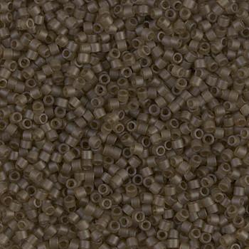 Delicas Size 11 Miyuki Seed Beads -- 384 Transparent Smoky Quartz Matte