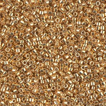 Delicas Size 11 Miyuki Seed Beads -- 410 Galvanized Dyed Yellow Gold