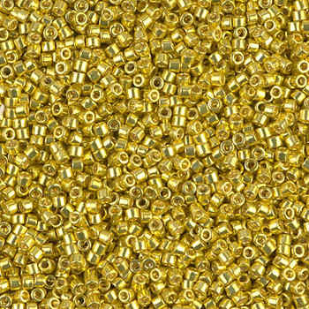 Delicas Size 11 Miyuki Seed Beads -- 424 Galvanized Dyed Dark Yellow