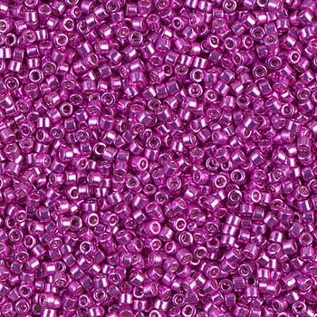 Delicas Size 11 Miyuki Seed Beads -- 425 Galvanized Dyed Bright Pink