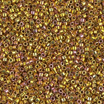 Delicas Size 11 Miyuki Seed Beads -- 501 24KT Gold Iris