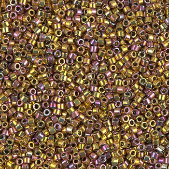 Delicas Size 11 Miyuki Seed Beads -- 507 Pink Gold AB