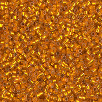 Delicas Size 11 Miyuki Seed Beads -- 681 Dyed Squash Semi Matte / Silver Lined