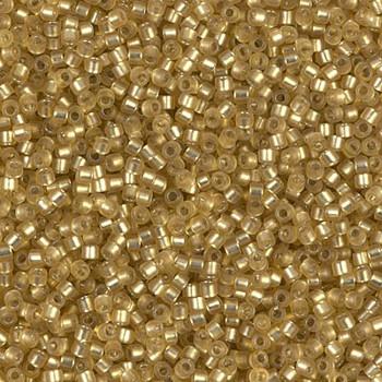 Delicas Size 11 Miyuki Seed Beads -- 687 Dyed Peridot Semi Matte / Silver Lined
