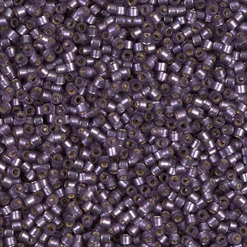Delicas Size 11 Miyuki Seed Beads -- 695 Dyed Violet Semi Matte / Silver Lined