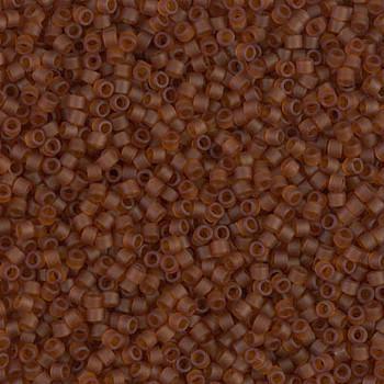 Delicas Size 11 Miyuki Seed Beads -- 764 Transparent Dark Topaz Matte