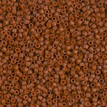 Delicas Size 11 Miyuki Seed Beads -- 794 Dyed Opaque Sienna Matte