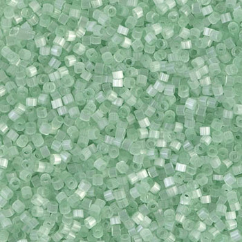 Delicas Size 11 Miyuki Seed Beads -- 828 Pale Green Silk Satin